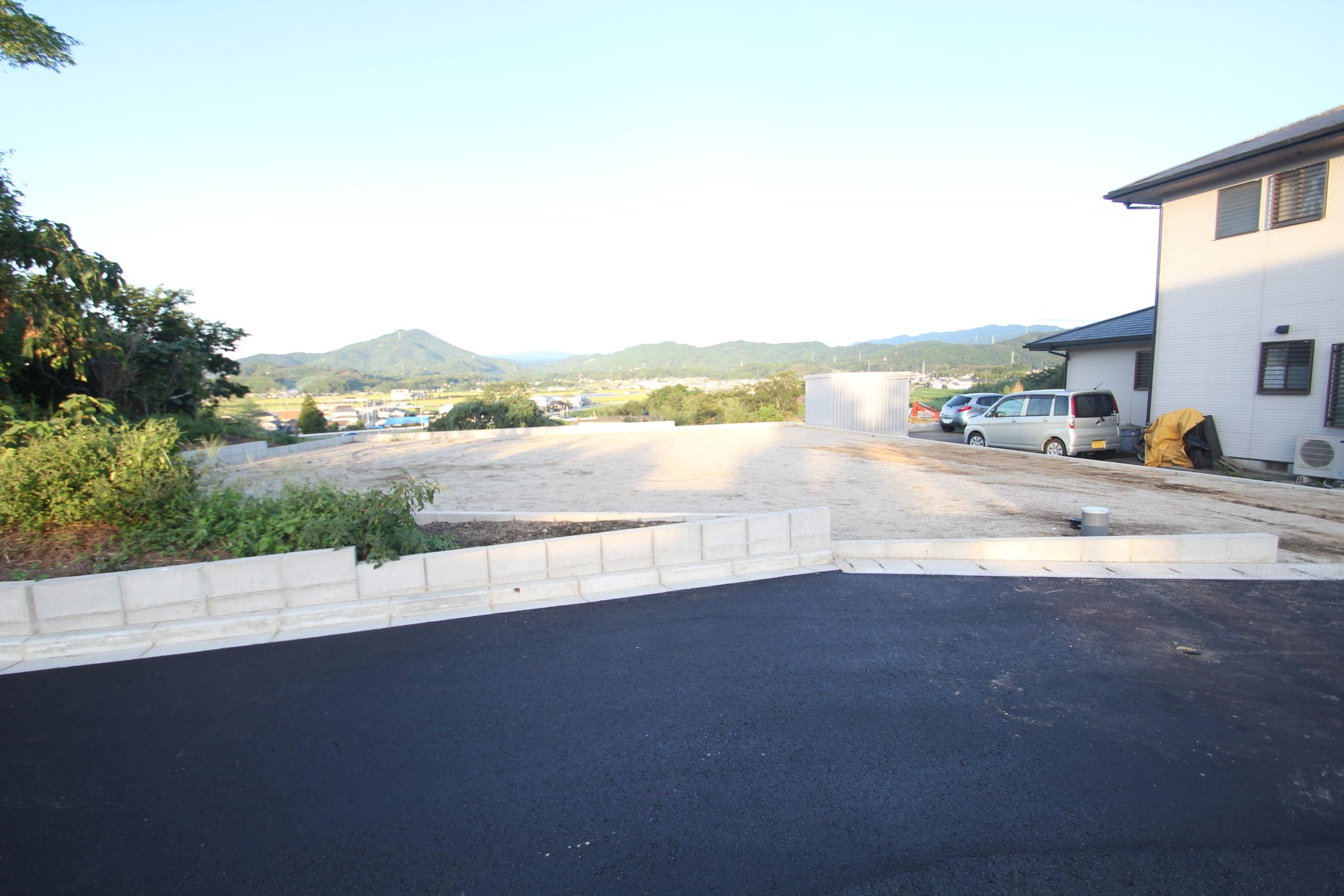造成区内7号地:東側からの眺めが最高です。